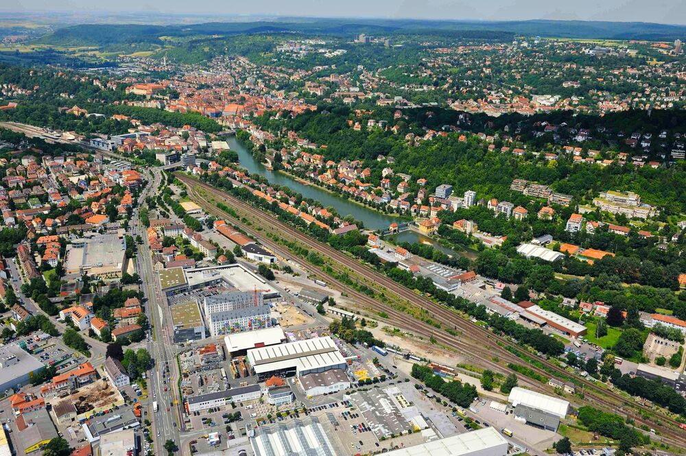 Luftbild Güterbahnhof Tübingen