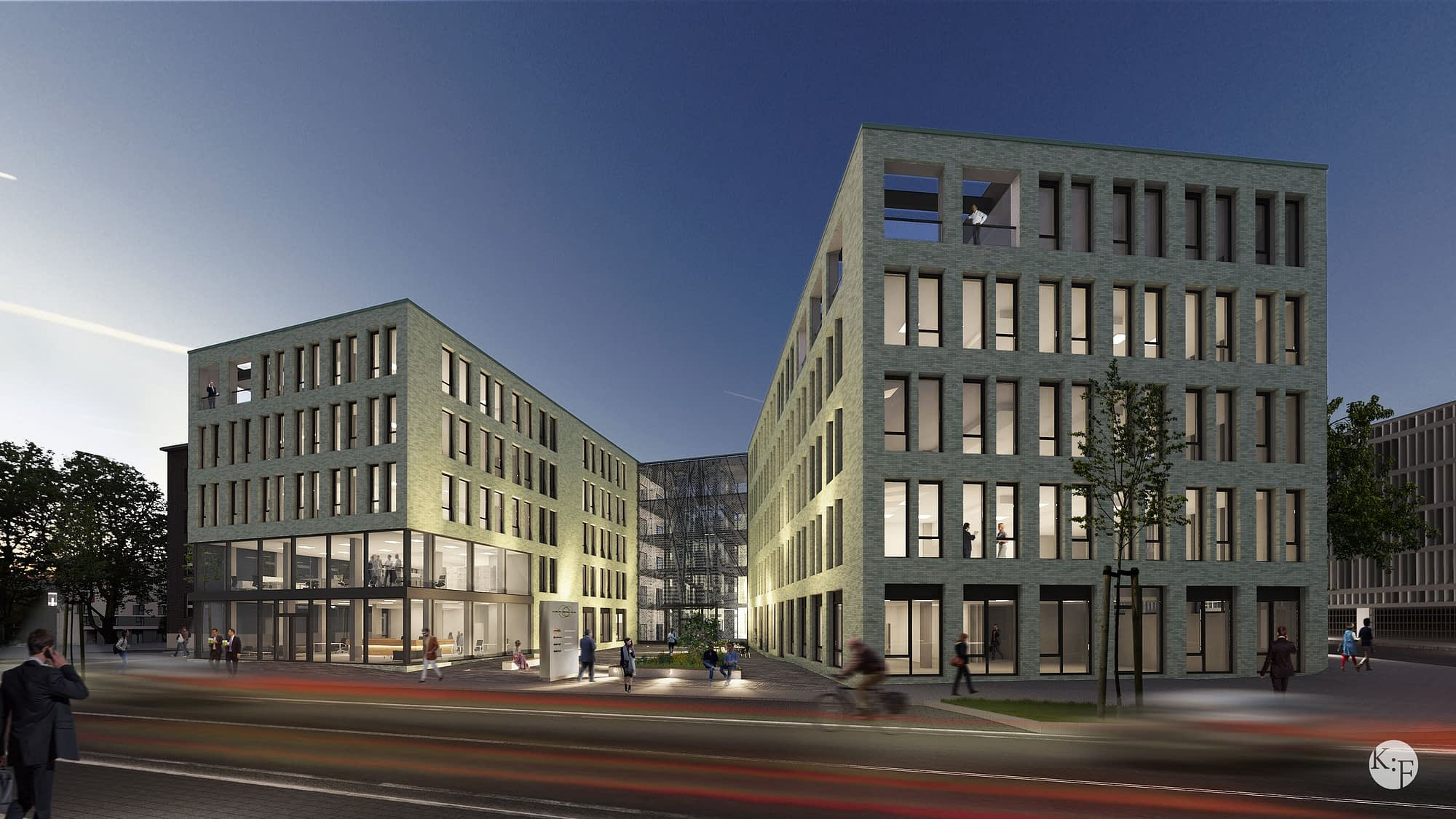 Büroquartier in Duisburg